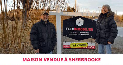 Maison vendue à Sherbrooke Flex Immobilier