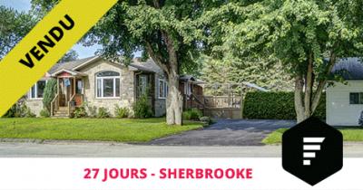 Spacieux bungalow vendu à Sherbrooke Est Flex Immobilier