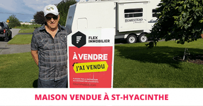 House sold in St-Hyacinthe Flex Immobilier