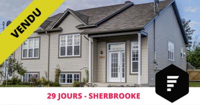 Semi-detached bungalow sold in St-Élie Sherbrooke Flex Immobilier
