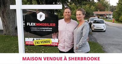 Bungalow vendu à Sherbrooke Flex Immobilier