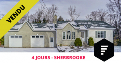 Bungalow sold in Sherbrooke Rock Forest Flex Immobilier
