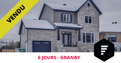Contemporary cottage sold in Granby Flex Immobilier