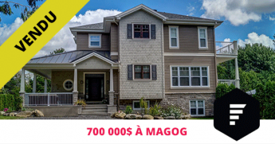 Luxury house sold in Magog Flex Immobilier