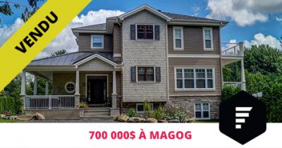 Maison de luxe vendue à Magog Flex Immobilier