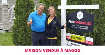 Maison haut de gamme vendue à Magog Flex Immobilier