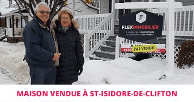 Maison vendue St-Isidore-de-Clifton Estrie Flex Immobilier