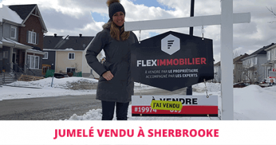 Semi-detached cottage sold in Sherbrooke Flex Immobilier