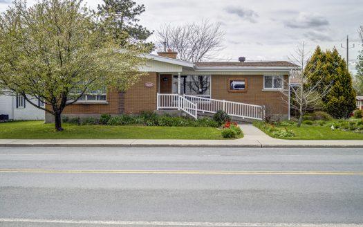 Immeuble commercial bureaux clinique à vendre St-Joseph Valcourt Flex Immobilier Élévation avant avec rampe d'accès pour personnes à mobilité réduite