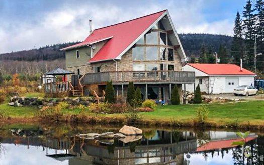 Maison avec érablière à vendre Notre-Dame-des-Bois Estrie Flex Immobilier Élévation avant