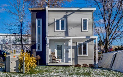 Maison contemporain à vendre 10e Ave Sherbrooke-Est Flex Immobilier Élévation avant