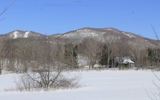 Terrain à vendre 500 rue Frontenac Bromont Flex Immobilier Avec boisé et vue sur la montagne