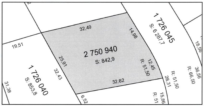 Plan de cadastre du terrain voisin qui pourrait être inclus dans la vente