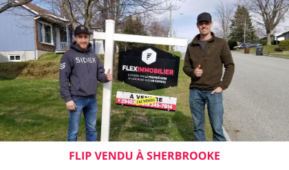 Testimonial Flip Sold Flex Immobilier House for sale Rock Forest
