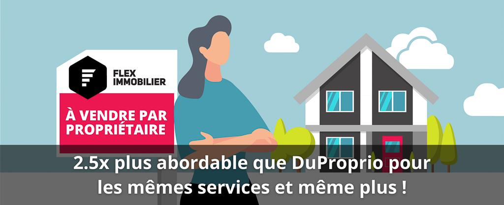 Comparer Forfait Essentiel de Flex Immobilier à DuProprio Header