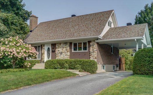 Maison à vendre Mont-Bellevue Sherbrooke Flex Immobilier Élévation avant