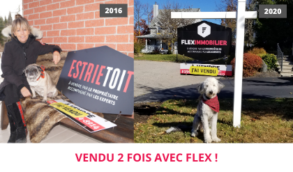 House sold satisfied customer testimonial Eastern Townships Flex Immobilier