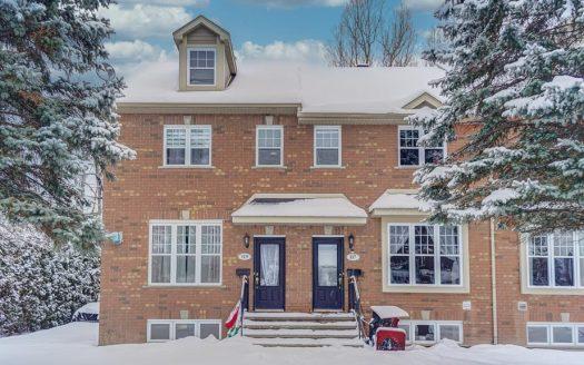 Maison jumelée à vendre Magog Flex Immobilier Élévation avant (maison à gauche)