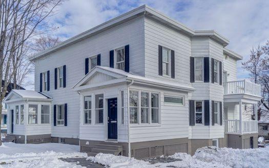 Condo spacieux et luxueux à vendre Vieux-Nord Sherbrooke Flex Immobilier Élévation avant (unité de gauche sur 3 niveaux)