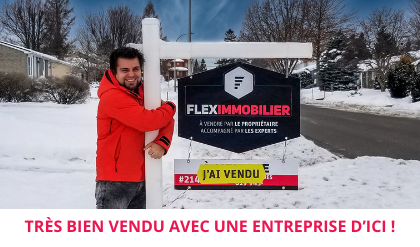 House sold customer satisfaction Buy local Flex Immobilier