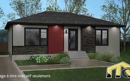Projet de maison neuve à vendre Sherbrooke St-Élie Flex-Immobilier Élévation avant proposée