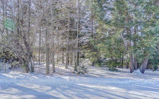 Terrain à vendre Sherbrooke St-Élie Flex Immobilier Vue de terrain à partir de la rue