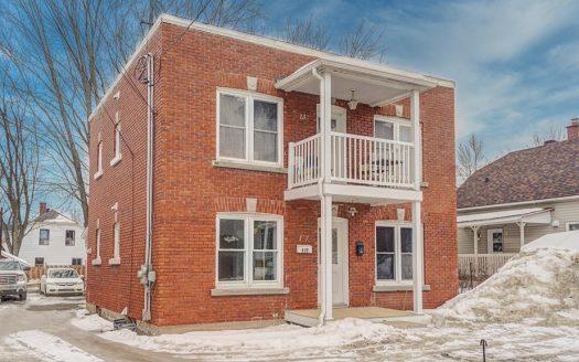 Duplex avec garage double à vendre Sherbrooke-Est Flex Immobilier Élévation avant