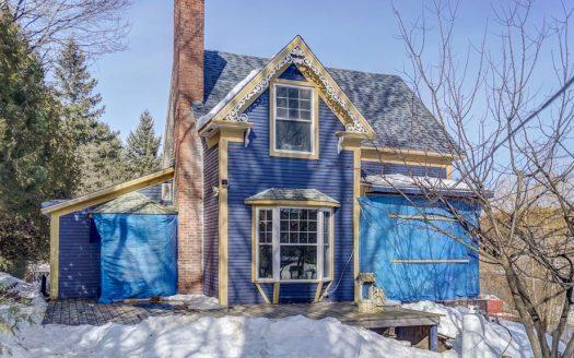 Maison ancestrale a vendre Windsor Estrie Flex Immobilier Élévation latérale gauche