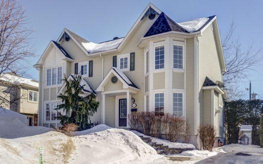 Maison jumelée à vendre Sherbrooke Jacques-Cartier Flex Immobilier Élévation avant (maison de droite)