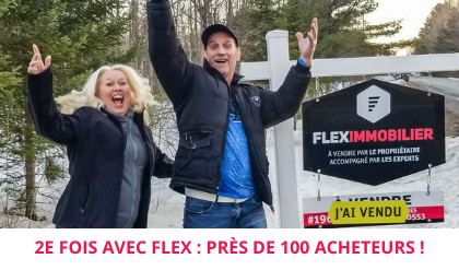 Maison vendue Drummondville satisfaction client témoignage Flex Immobilier