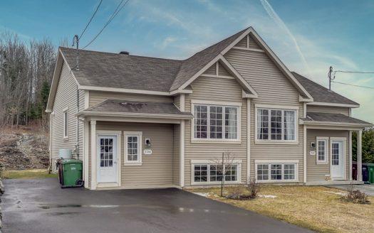 Maison jumelée à vendre Sherbrooke Fleurimont Flex Immobilier Élévation avant (maison de gauche)