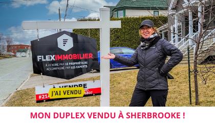 Maison vendue par proprio Sherbrooke satisfaction client Flex Immobilier