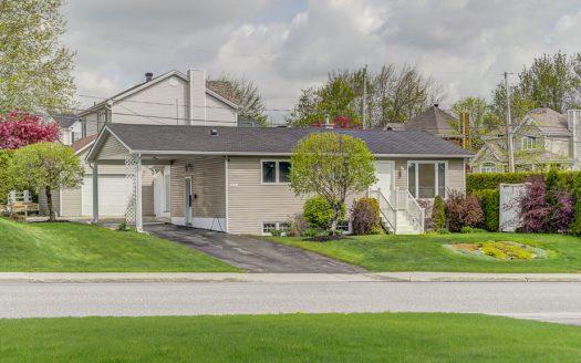 Maison plain-pied à vendre Sherbrooke Jacques-Cartier Flex Immobilier Élévation avant