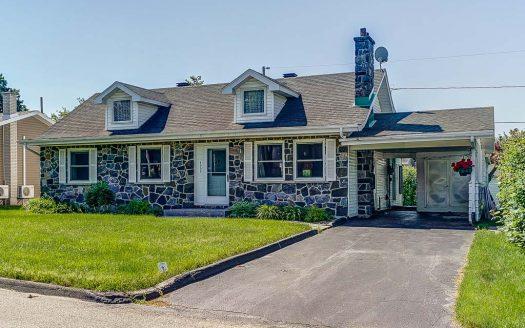 Maison plain-pied à vendre Jacques-Cartier Sherbrooke Flex Immobilier Élévation avant