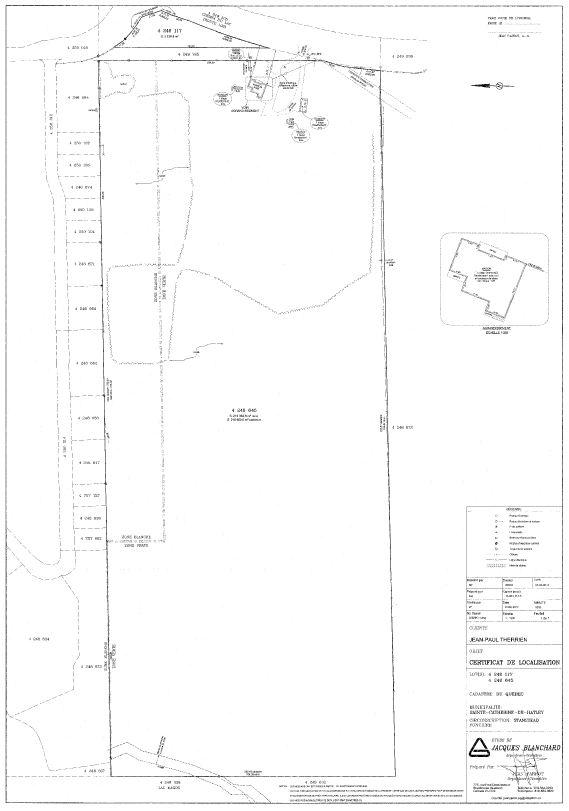 Plan du certificat de localisation (à mettre à jour)